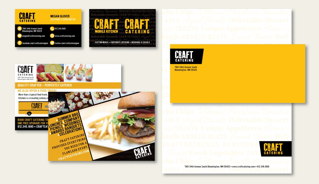 Craft Catering Brand Corporate Identity by DreamBig Creative Minneapolis, MN