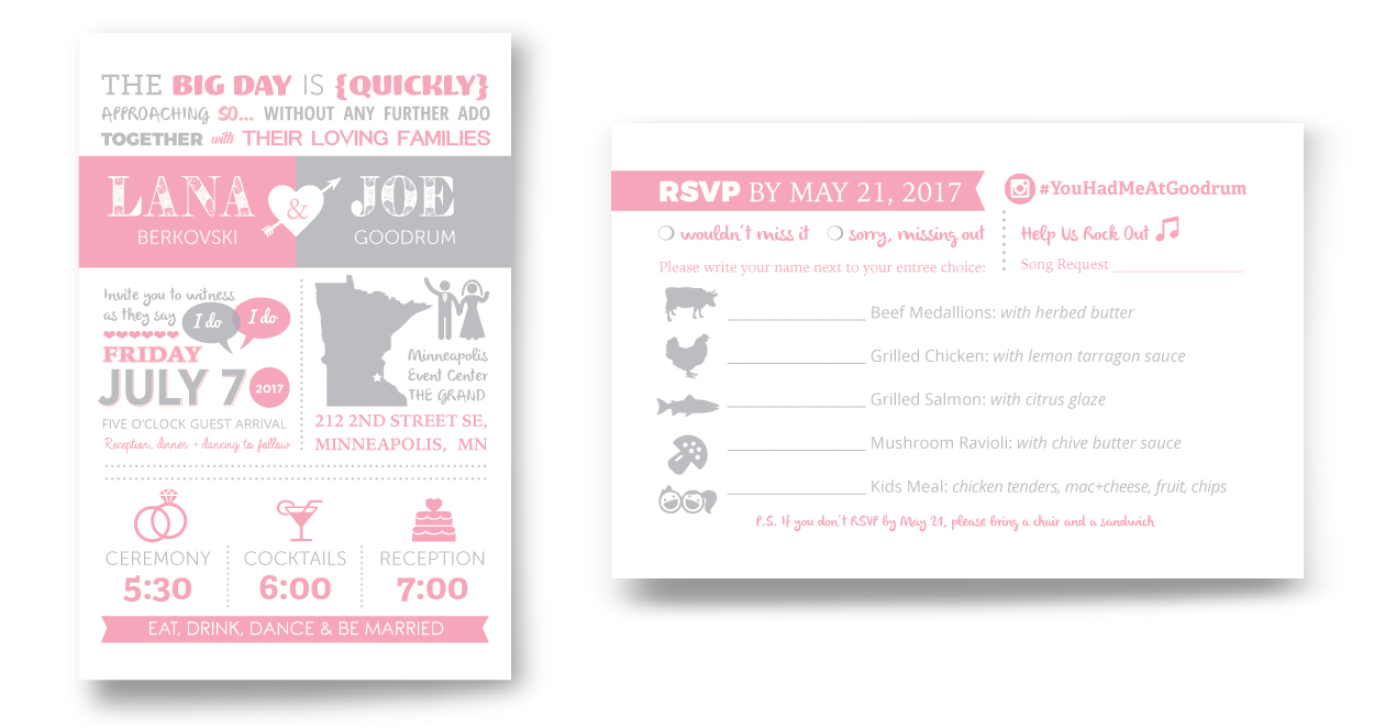 Wedding Invitation Infographic Design