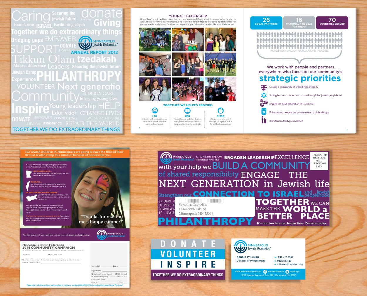 Minneapolis Jewish Federation Brand Identity by DreamBig Creative Minneapolis, MN
