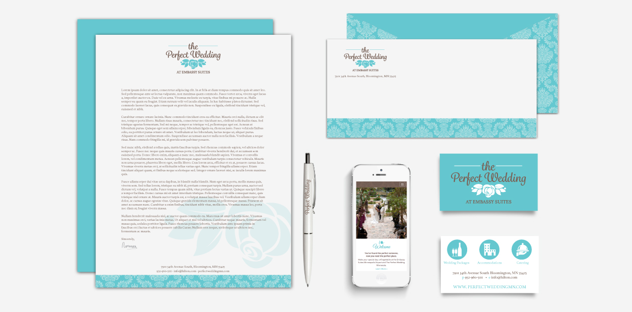 The Prefect Wedding Brand Identity Deisgn by DreamBig Creative Minneapolis, MN