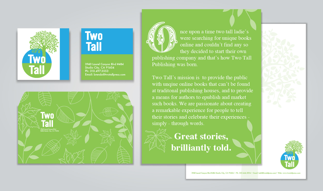 Corporate Identity Two Tall by DreamBig Creative Minneapolis, MN