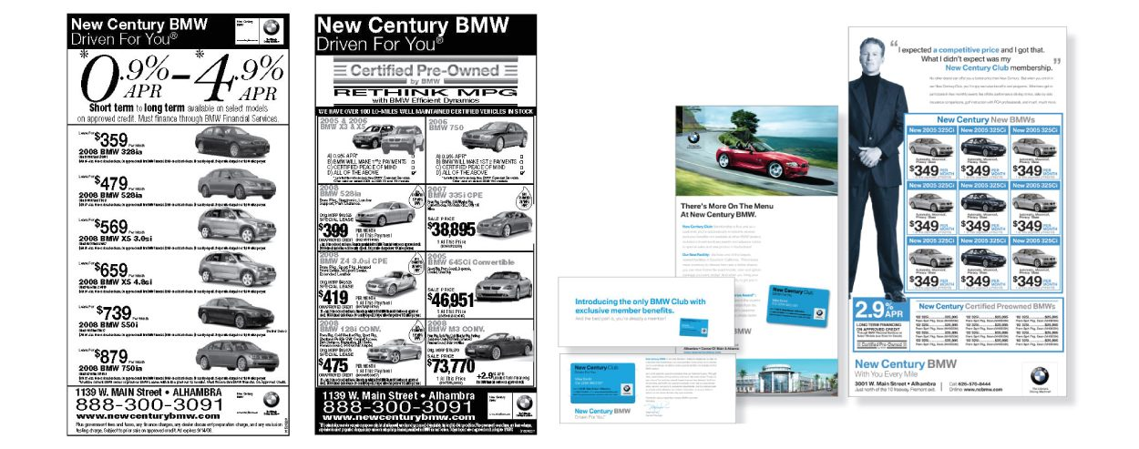 New Century BMW Marketing Ads by DreamBig Creative Minneapolis, MN