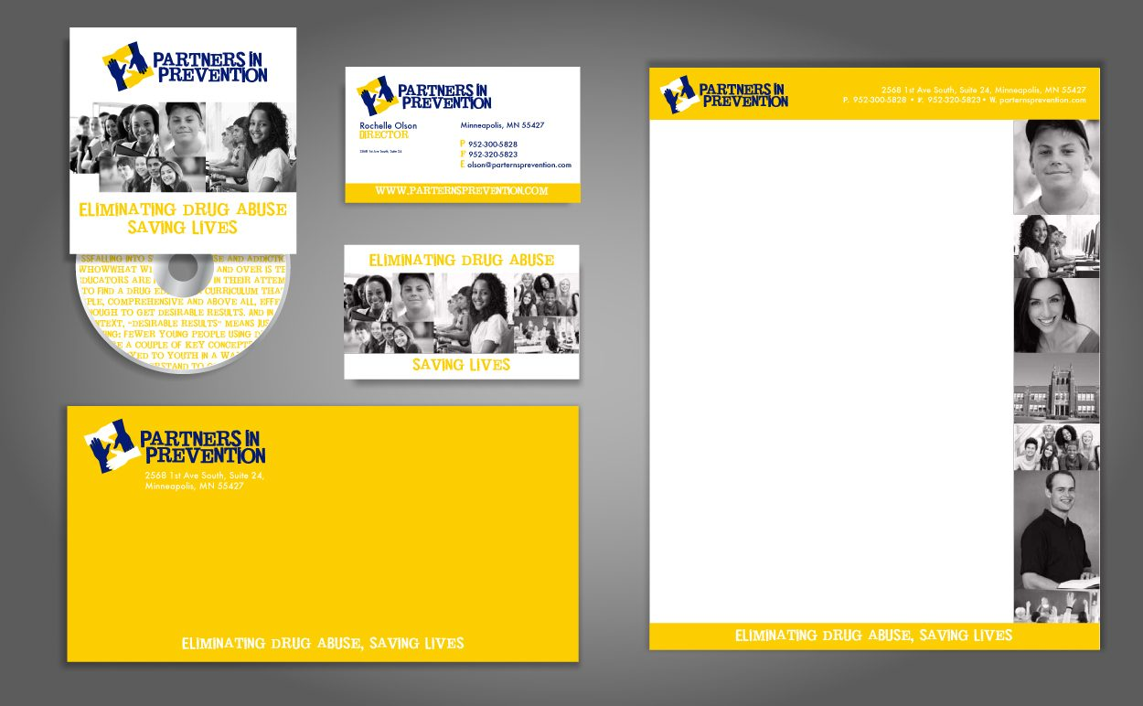 Partners in Prevention Corporate Identity by DreamBig Creative Minneapolis, MN