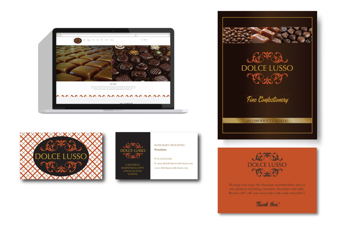 DOLCE LUSSO Print and Website Design by DreamBig Creative Minneapolis, MN