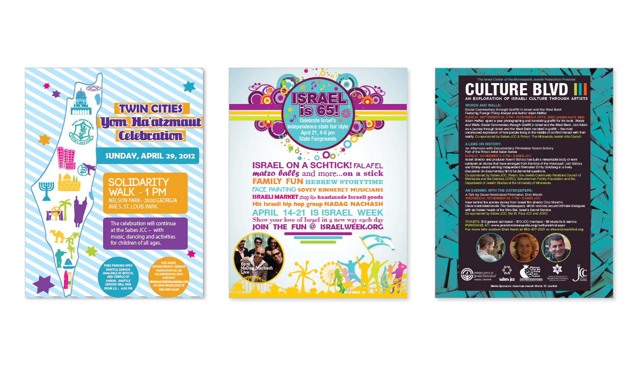 Minneapolis Jewish Federation Poster Design by DreamBig Creative Minneapolis, MN