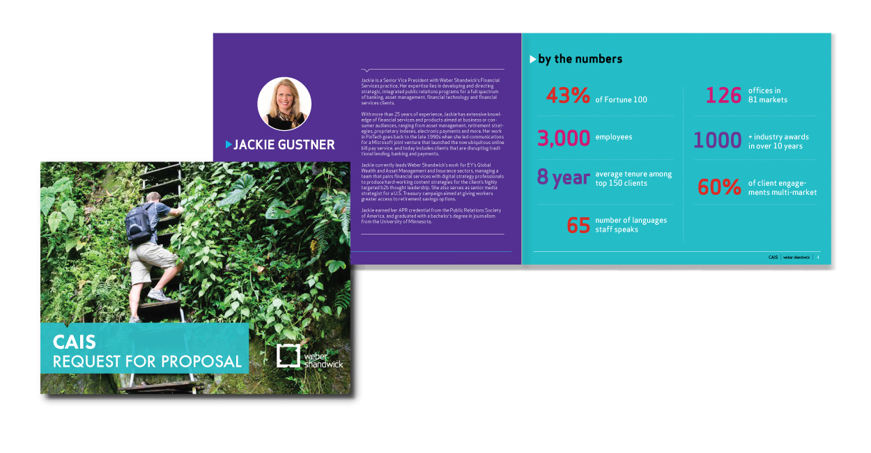 Webber Brochure Print and Layout Design by DreamBig Creative Minneapolis, MN