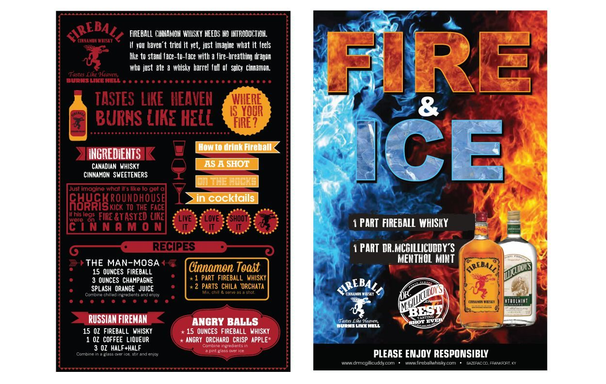 Fireball Infographic Flyer Print Design by DreamBig Creative Minneapolis, MN