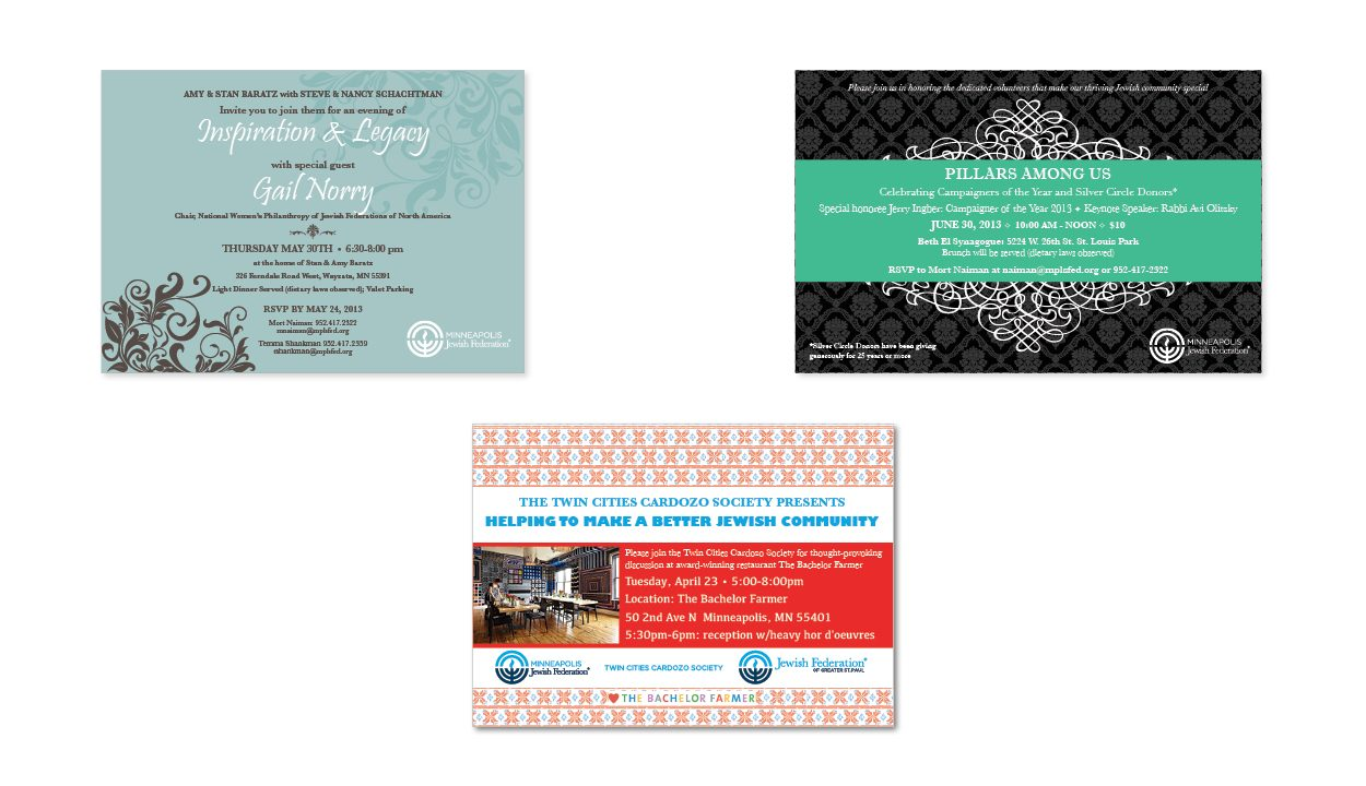 Printed Invitation Design by DreamBig Creative Minneapolis, MN