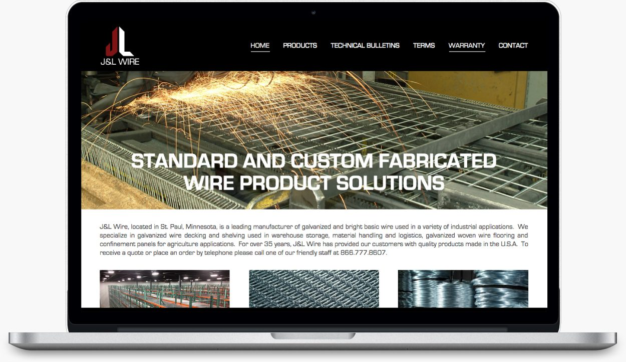 J+L Wire Custom Wordpress Website Design
