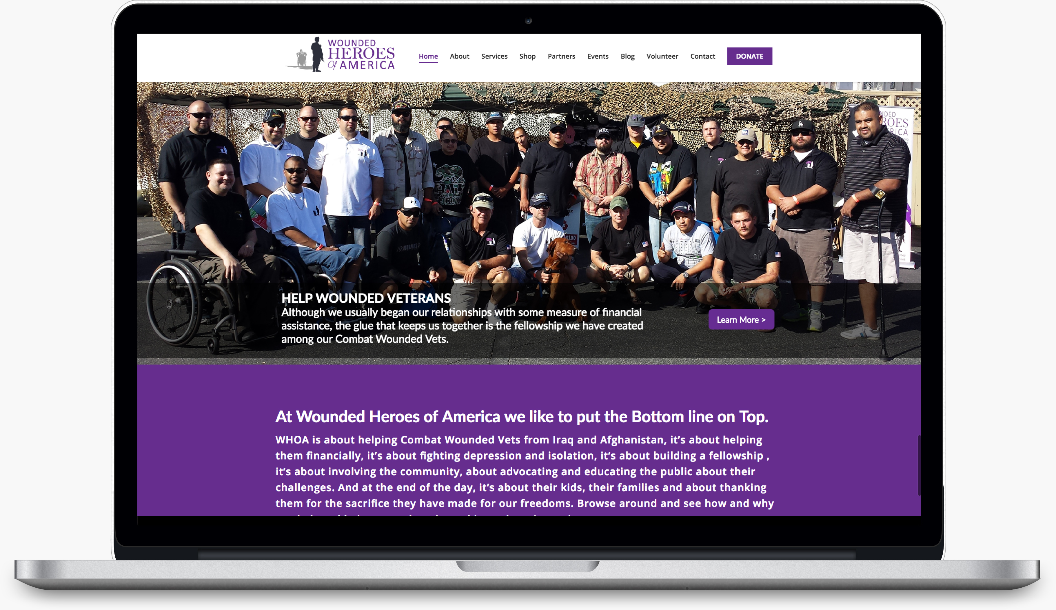 wounded heroes ecommerce website