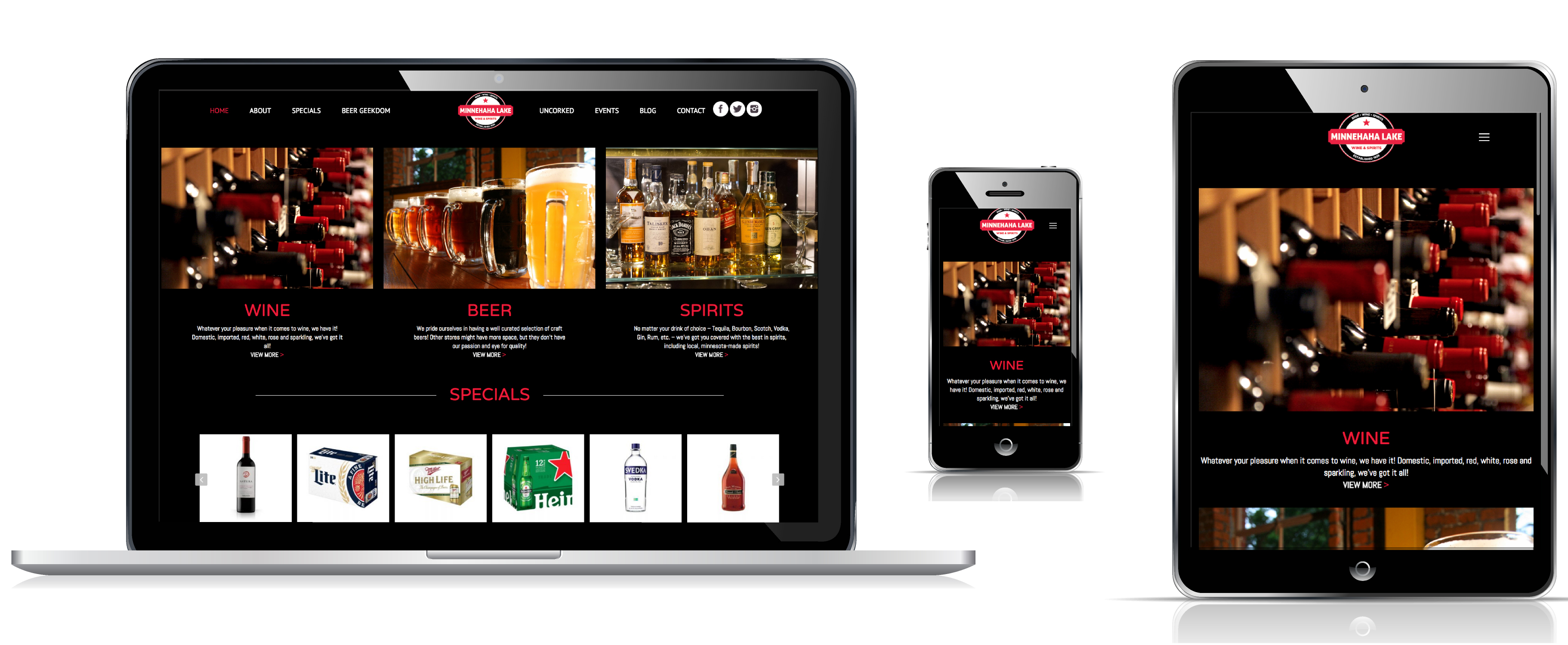 Minneahaha Liquors Website Design and Development