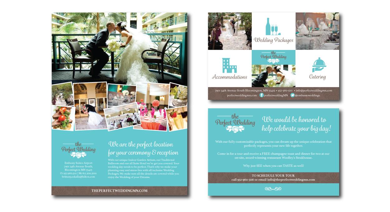 Catering wedding ad design