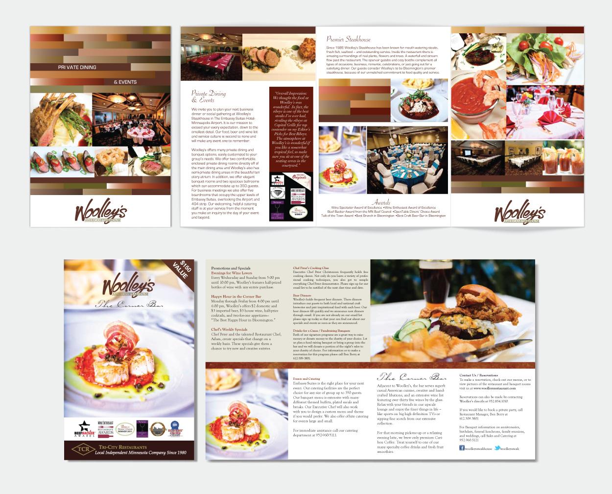 Woolley s restaurant brochure design dreambig creative